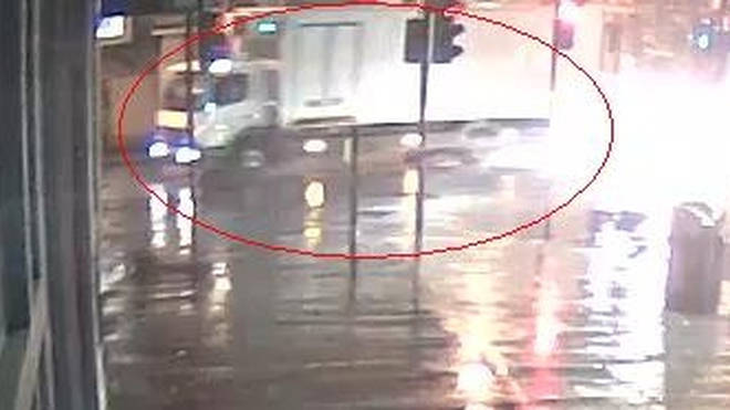 Police release CCTV of lorry after hit-and-run incident