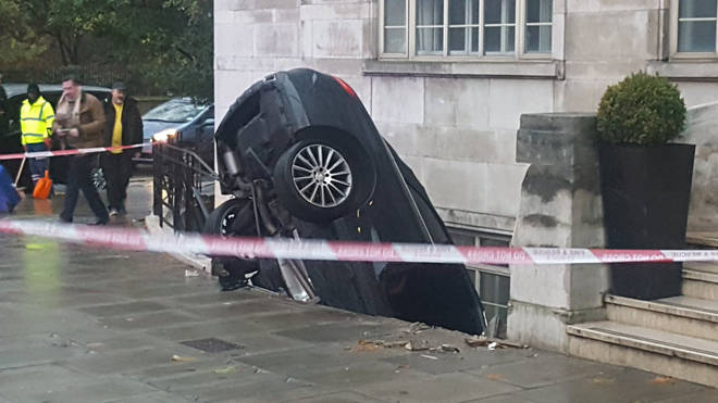 The car in west London this morning