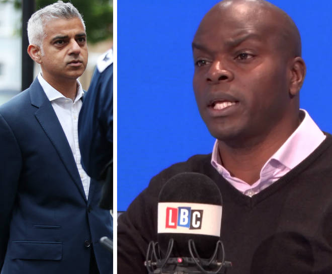 Shaun Bailey criticised Sadiq Khan during an LBC interview on Friday