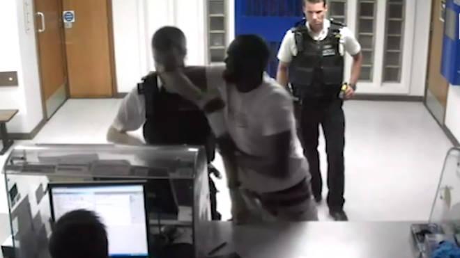 Police Officer's Nose Broken