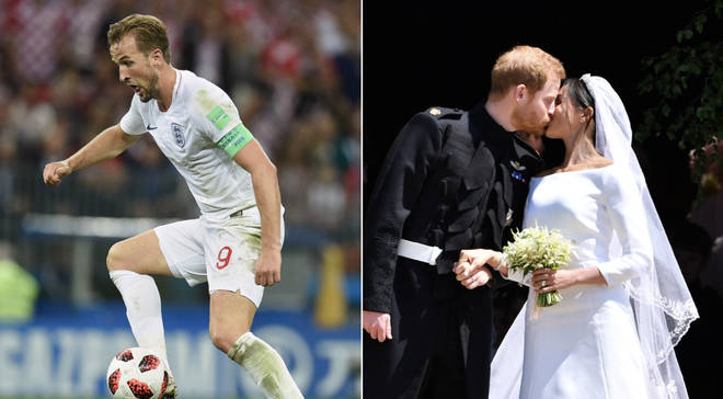 Harry Kane at the 2018 World Cup, just weeks after Harry and Meghan married in Windsor