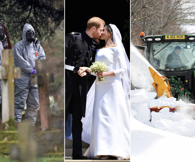 The poisoning of Sergei Skripal and his daughter, wedding of Prince Harry and Meghan Markle, and the Beast from the East all made the news