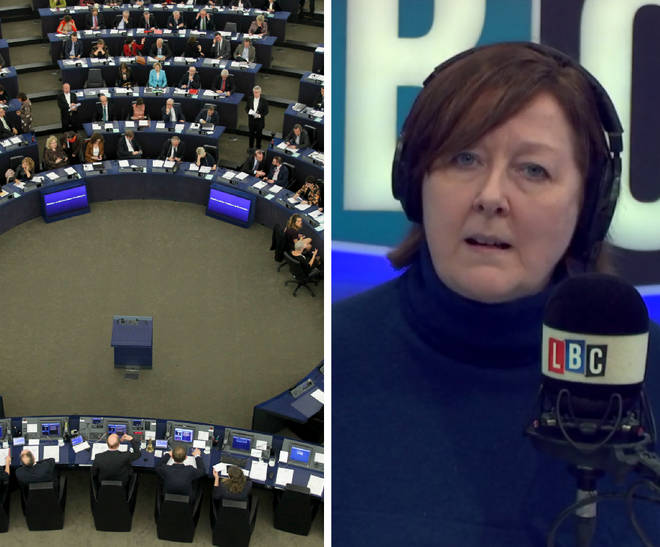 Caller tries to argue that MEPs aren't elected