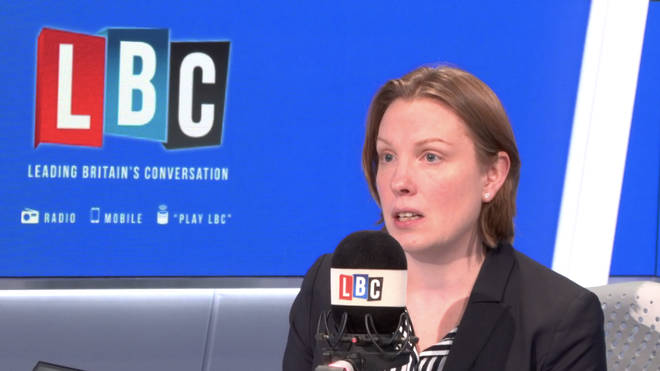 Tracey Crouch in the LBC studio