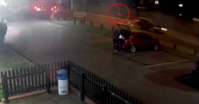 CCTV of drink-driver