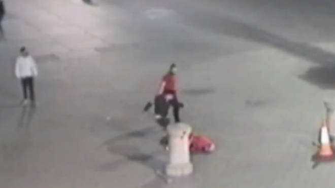 Trafalgar Square Assault Homeless Man