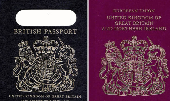Blue passports will return after Brexit