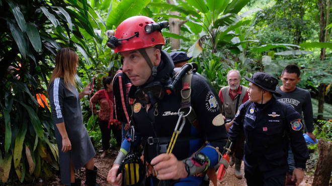Richard Stanton at the site of the cave rescue in Thailand