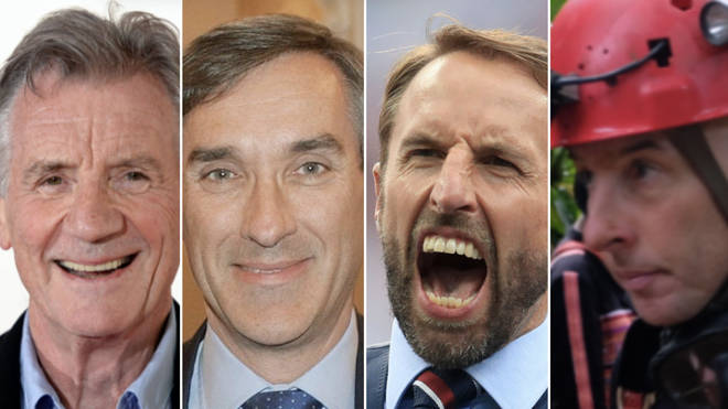 Michael Palin, MP John Redwood, Gareth Southgate and Richard Stanton