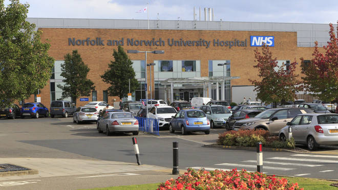 Norfolk and Norwich University Hospital carpark.