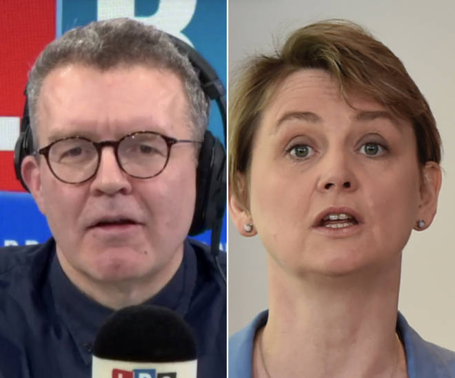 Tom Watson and Yvette Cooper
