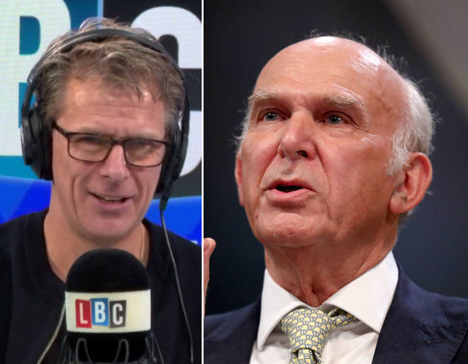 Andrew Castle spoke to Vince Cable