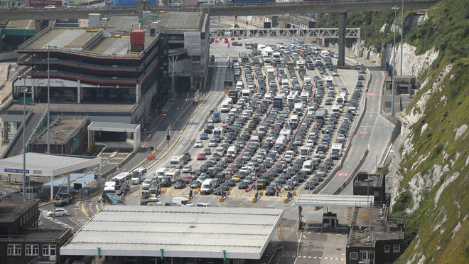 The Port of Dover, which faces huge queues