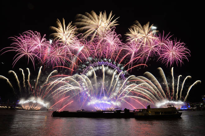 New Year's Fireworks in central London