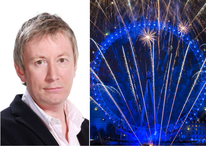 Nick Abbot had a lively interview over the New Year's fireworks