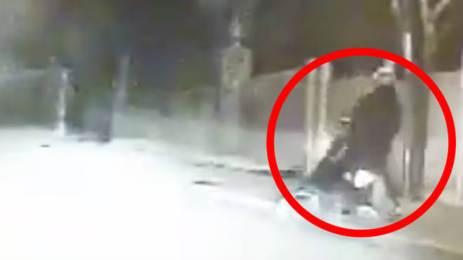 The bungled getaway was caught on camera on New Year's Day