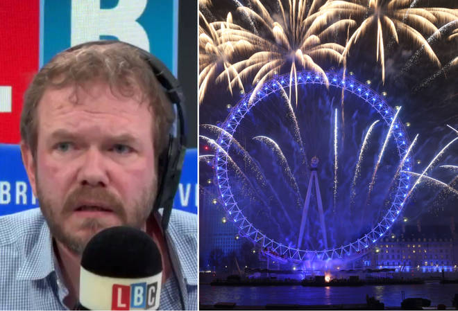 James O'Brien had this entertaining conversation about London's fireworks