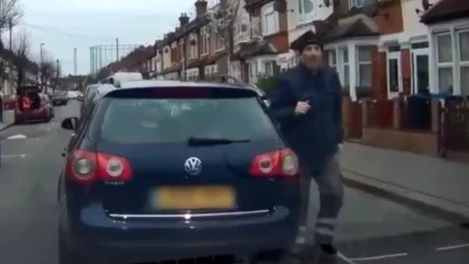 The racist tirade was captured on the driver's dash-cam