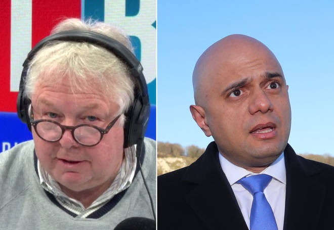 Nick Ferrari spoke of Sajid Javid's performance