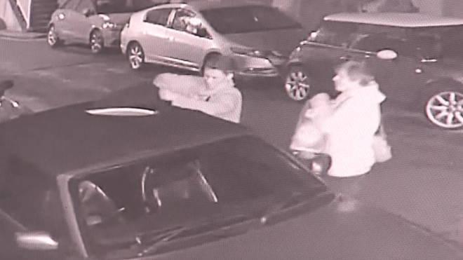 Car roof vandals