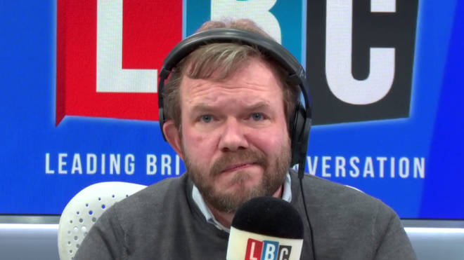 """James O&squot;Brien&squot;s face when a caller accused him of """"bamboozling"""" him"""