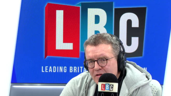 Tom Watson in the LBC studio