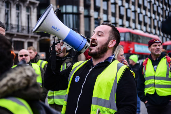 James Goddard is a pro-Brexit protester