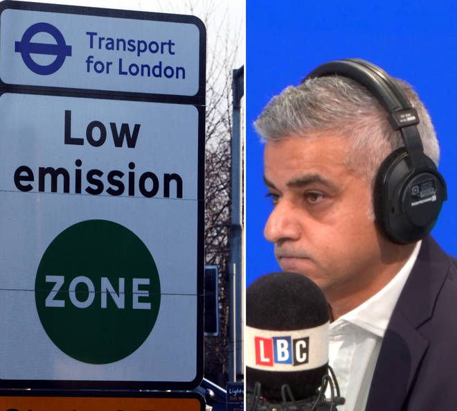Sadiq Khan was taken to task over the Ultra-Low Emission Zone