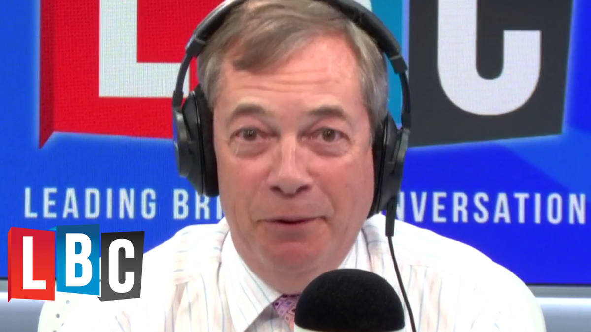 "Caller Quizzes Nigel Farage: ""Who Would You Vote For In An Election?"""