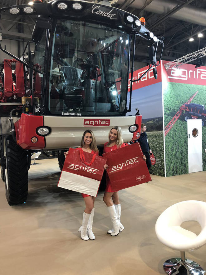 Agrifac hired the models for the Lamma show in Birmingham