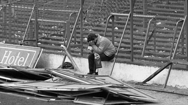File photo dated 15/04/89 of a Liverpool fan at Hillsborough football stadium in Sheffield Photo: John Giles/PA Wire/PA Images