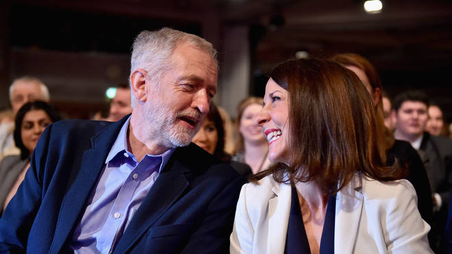 Jeremy Corbyn and liz Kendall in 2015
