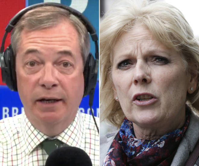 Nigel Farage responds to Anna Soubry protesters