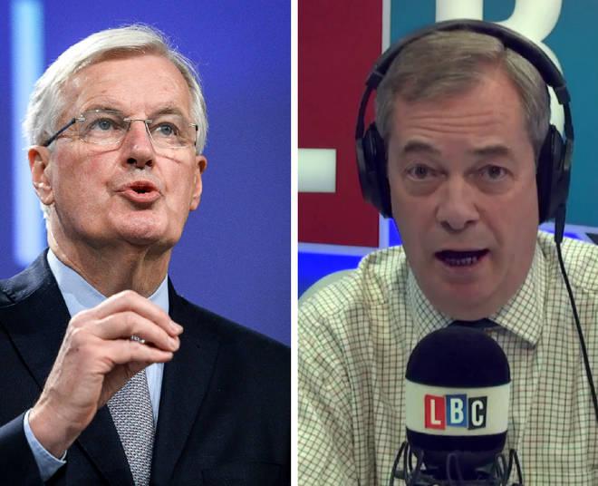 Nigel Farage Michel Barnier