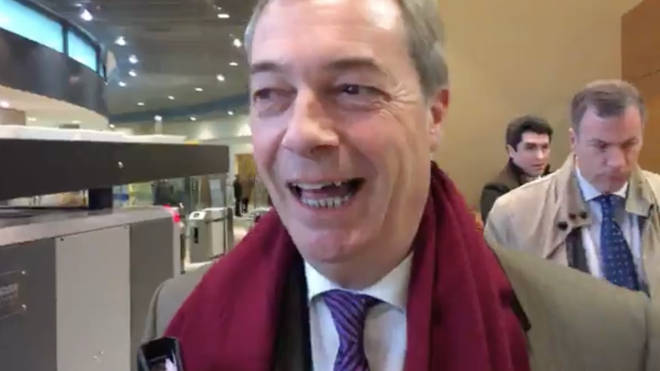 Nigel Farage in Brussels