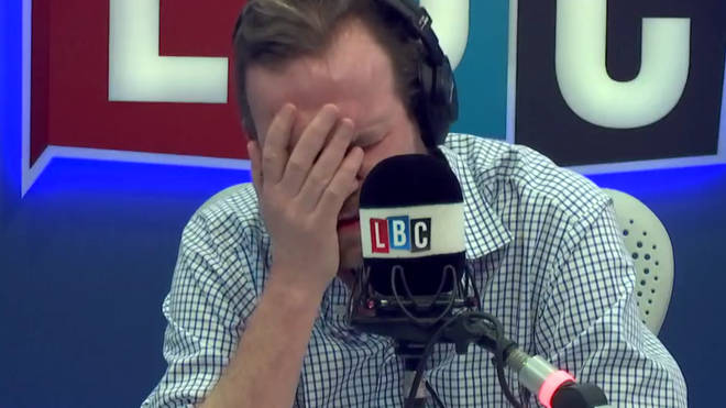 James O'Brien was left with his head in his hands after reading David Davis' letter
