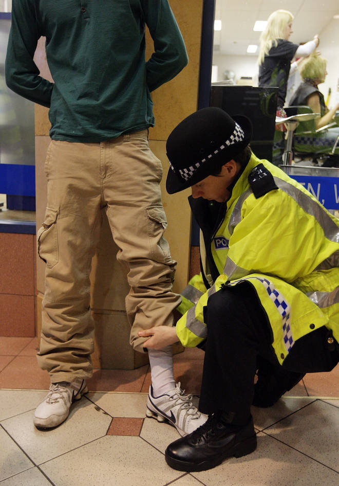 """Police in London have been criticised for """"disproportionate"""" use of stop and search on black people"""