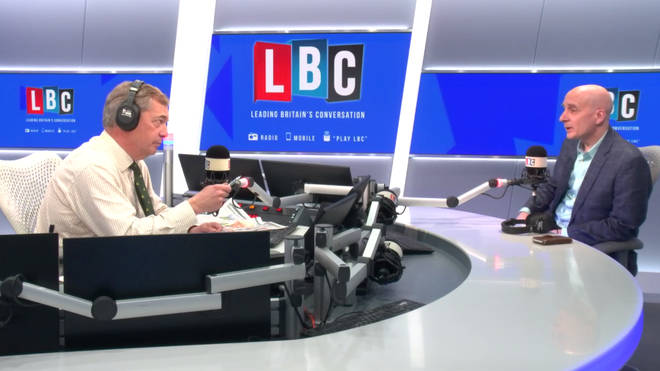 Nigel Farage interviews Andrew Adonis in the LBC studio