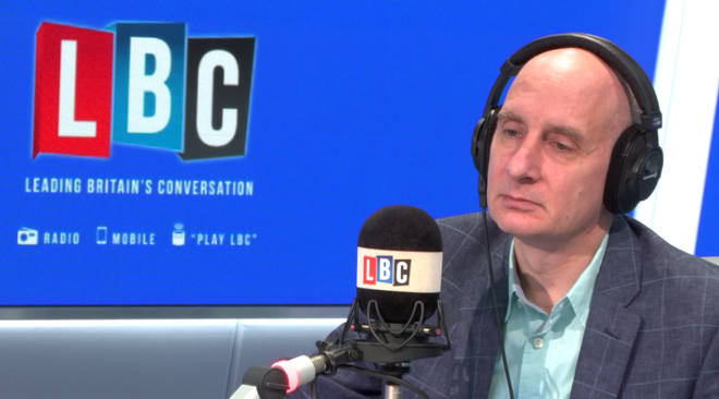 Lord Adonis, listening to Nigel Farage's caller Tommy
