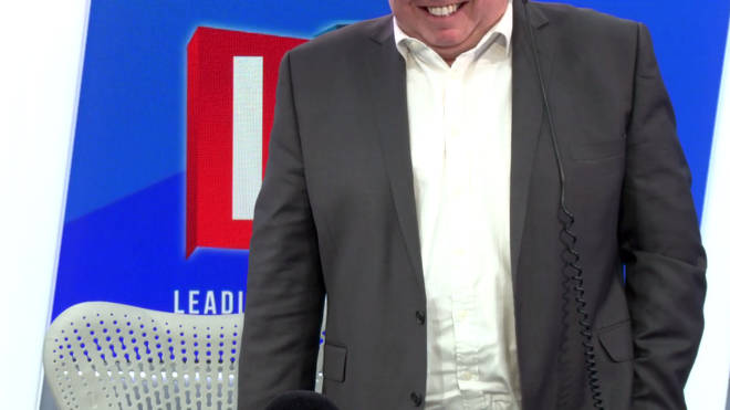 Nick Ferrari being forced to stand up to do an interview on inactivity