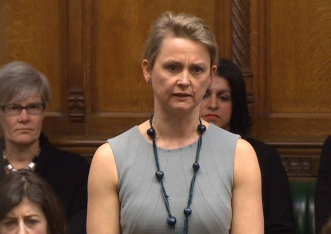 Yvette Cooper speaks in the House of Commons
