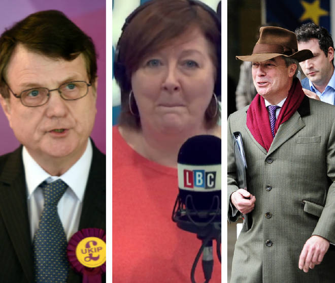 Gerard Batten Nigel Farage Shelagh Fogarty
