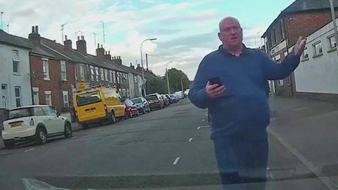 Dash cam captured the angry resident