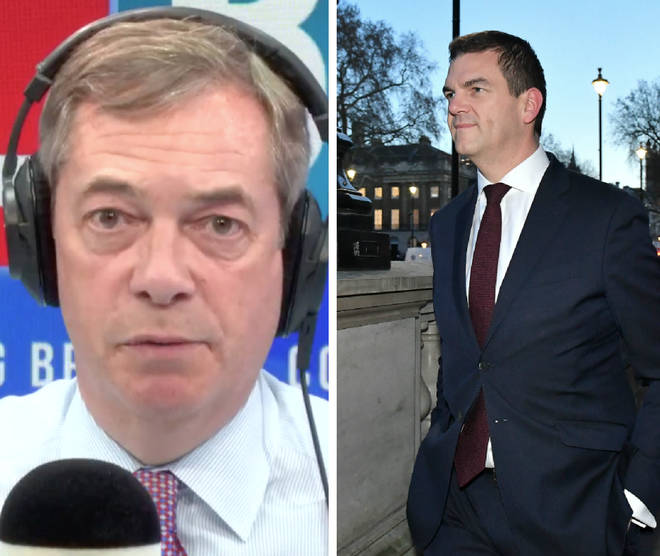 Nigel Farage called on Theresa May to sack Olly Robbins