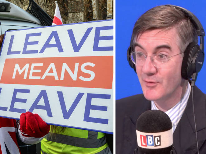 Jacob Rees-Mogg took LBC listeners' calls on Monday