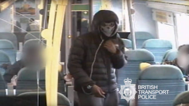 Knifepoint robbery train London