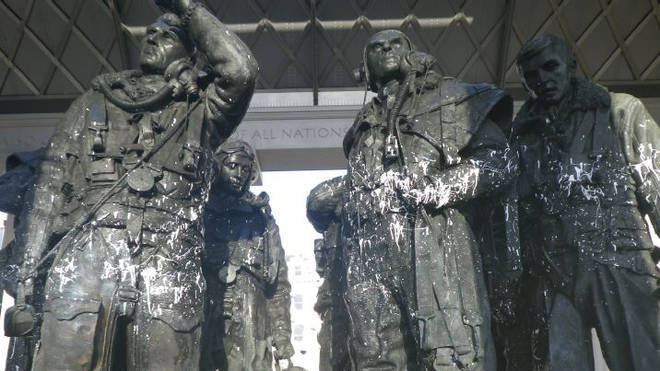 The Bomber Command Memorial was targeted on the 20th January
