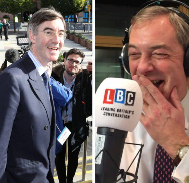 Jacob Rees-Mogg, Nigel Farage