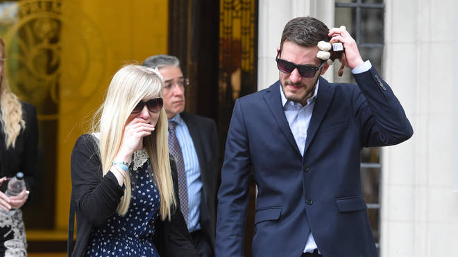 The parents of Charlie Gard, Connie and Chris, are devastated following the ECHR decision Photo: PA