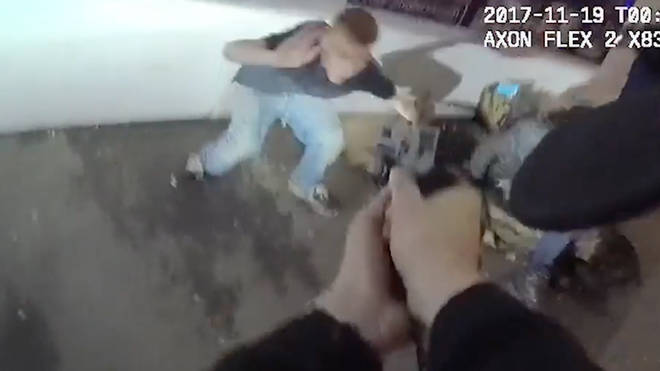 Police officers' body cams captured the dramatic night unfold